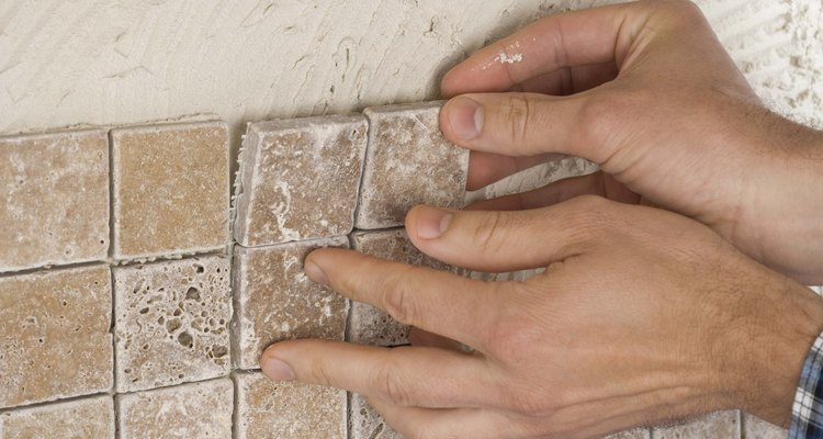 Grout fills the joints between tiles.