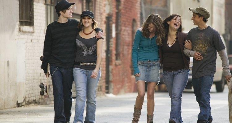 La moda adolescente es mucho más informal que el estilo del adulto.