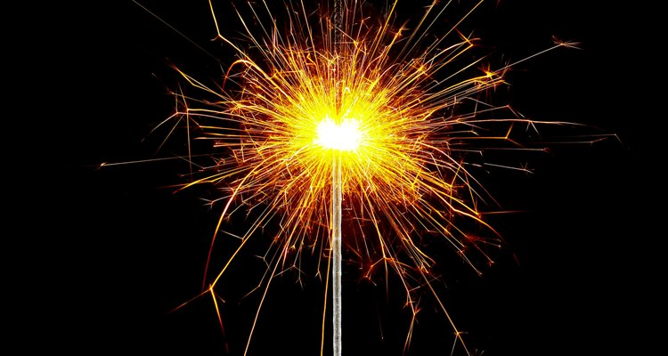 Dispose of unused sparklers safely.