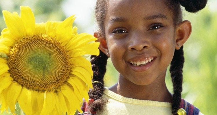 Los girasoles son un complemento ideal para el jardín de un niño.