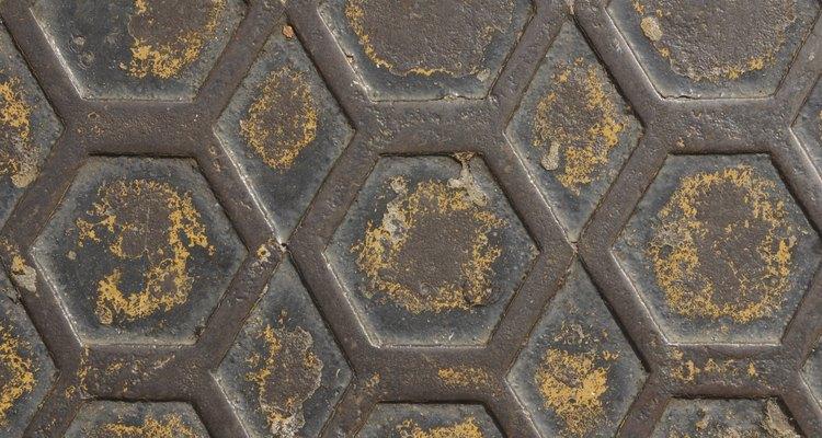 Hexágonos regulares são encontrados em muitas estruturas