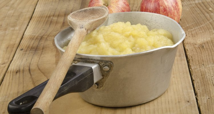 freshly home made apple compote