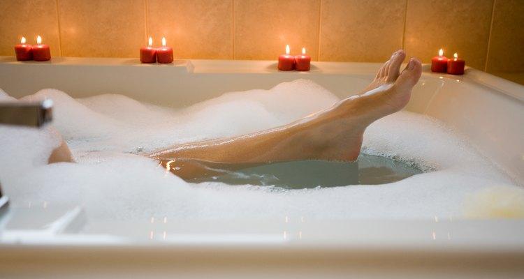 Foot of woman in bathtub