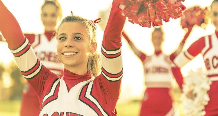 Portrait of a cheerleeder in action