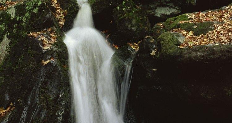 Puedes caminar hacia diferentes cascadas cerca de Roanoke.