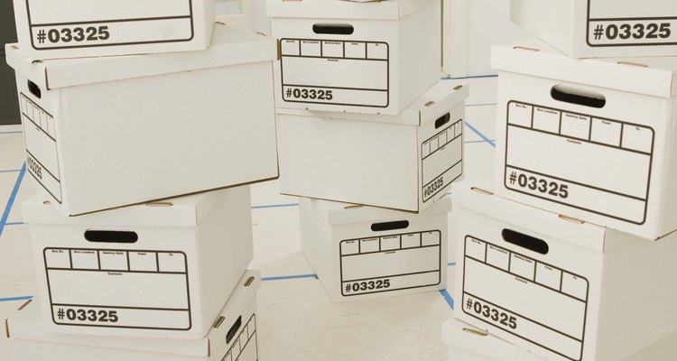 A cardboard box will form the template for your fibreglass storage box.