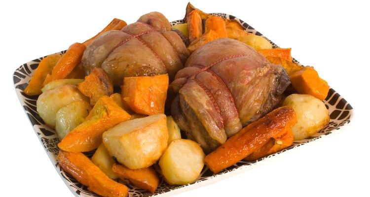 Roast Lamb Rump and vegetables