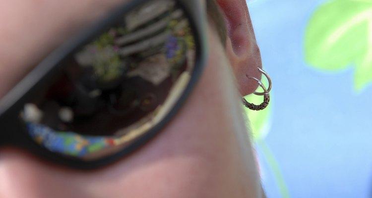 Close-up of a woman wearing sunglasses