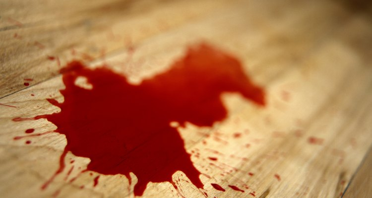 Blood spatter analysts use blood stains to piece together events at a crime scene.