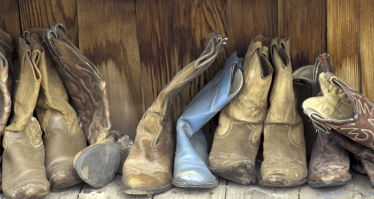 Close-up of cowboy boots