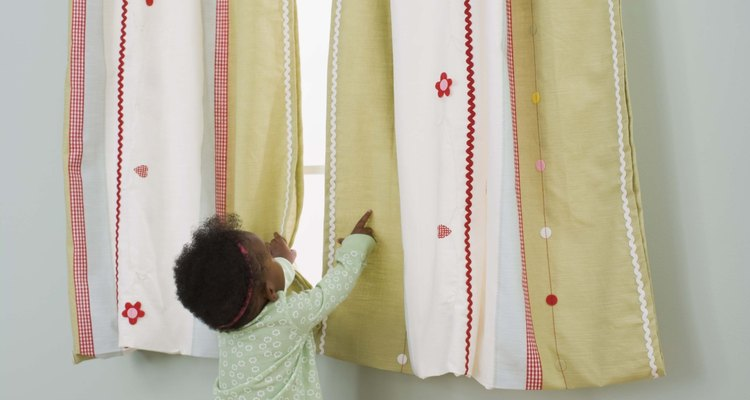 Long curtains can be shortened with basic sewing skills.