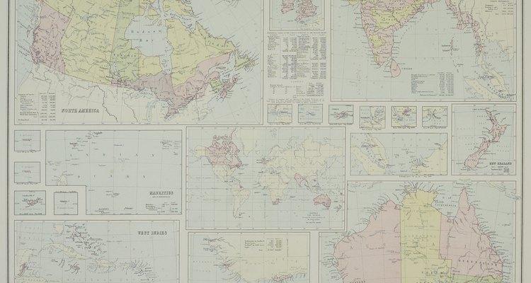 Varios países prominentes formaban el Imperio Británico.