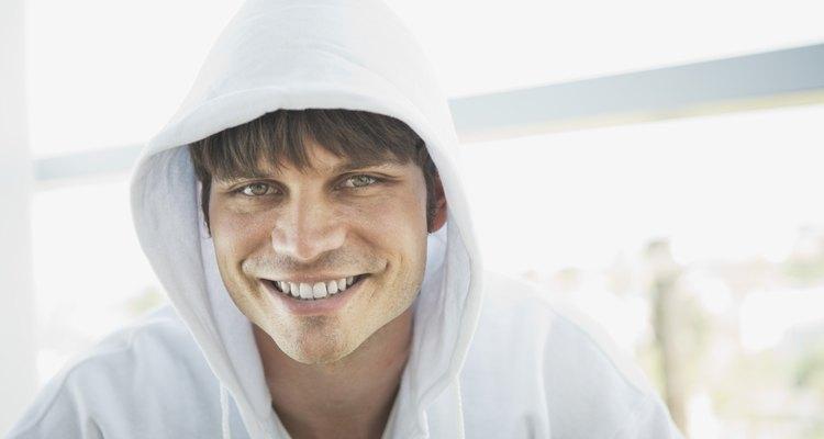 Smiling man wearing hoodie