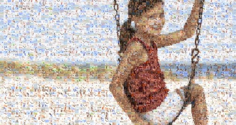 Foto com efeito mosaico
