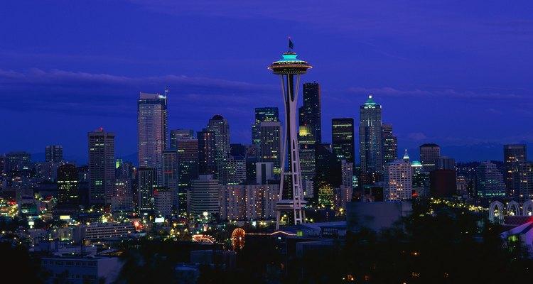 Seattle, Washington, cobra vida por la noche.