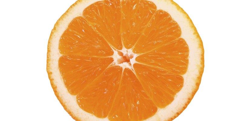 Orange cut in half