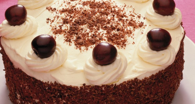 Black Forest cake is flavoured with kirsch, a cherry liqueur.
