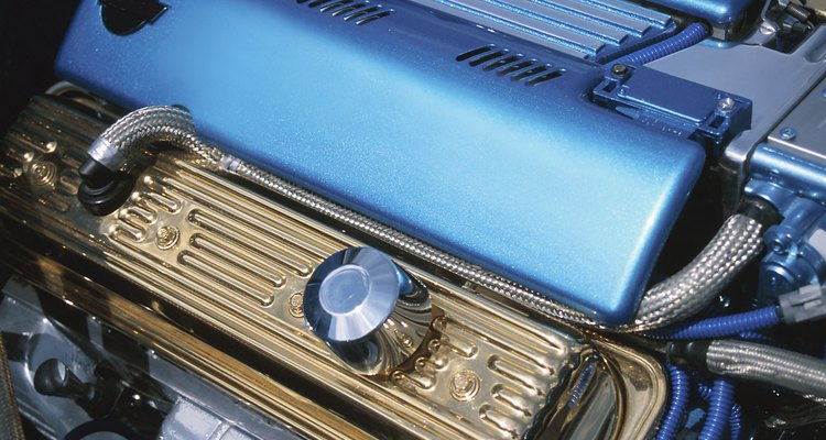 The valves in most modern engines will be found beneath a rectangular cover such as this.
