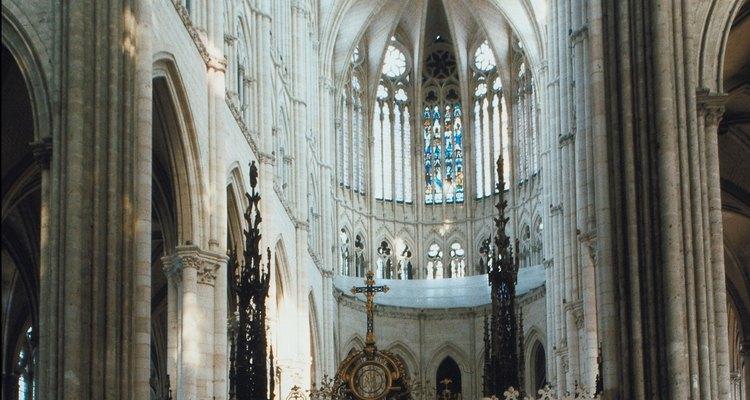La nave en la Catedral de Amiens.