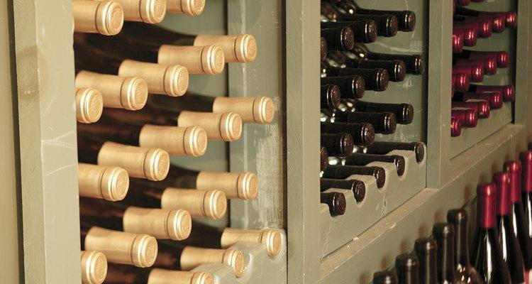 Botellas de vino.