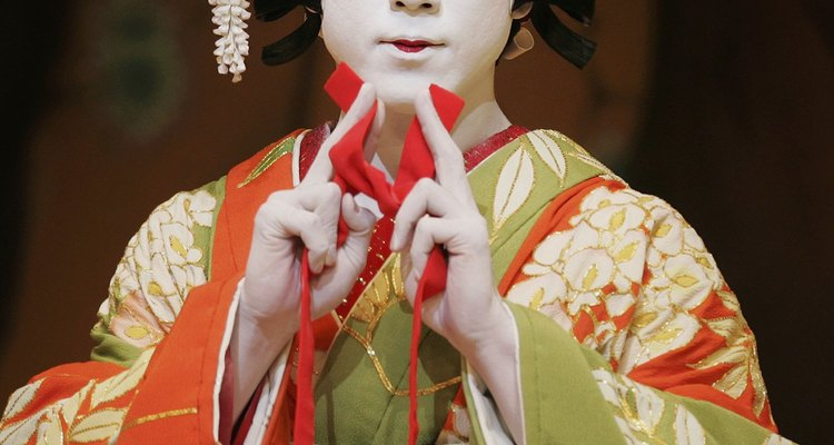 The make-up for many kabuki characters is quite basic.