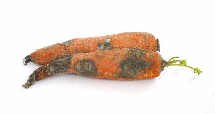 Observa las zanahorias y fíjate que no tengan moho ni partes blandas.