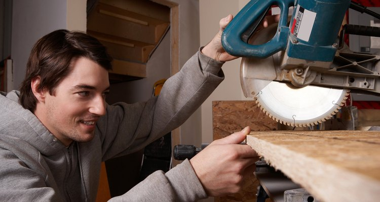A T-bevel can be used to transfer angles to your mitre saw.