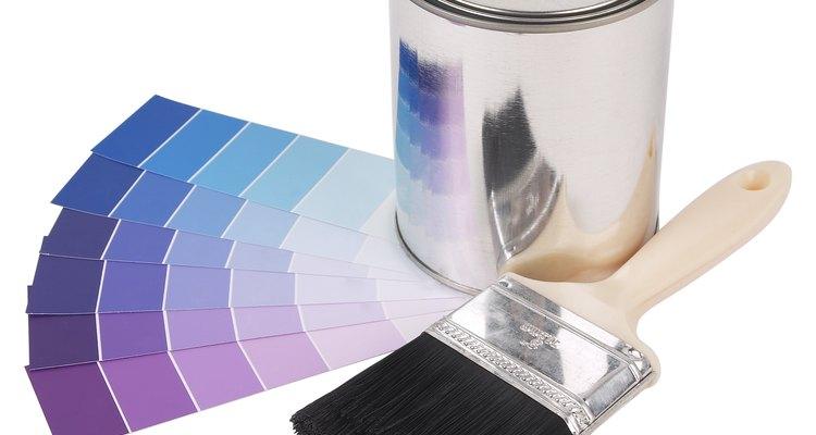 Látex é frequentemente encontrado em tinta para casa