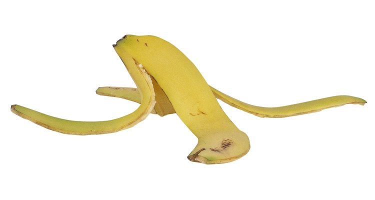 Cáscara de plátano.
