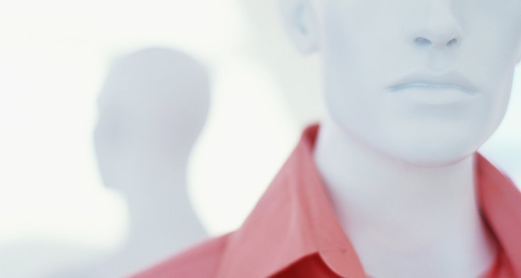 close-up of a mannequin in a store