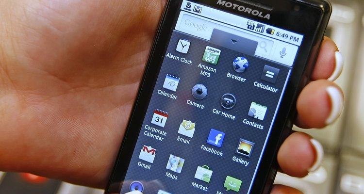 Os aplicativos de um smartphone Android da Motorola