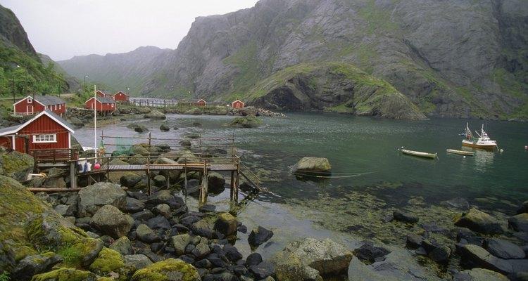 Pueblo de Nusfjord en las Islas Lofoten.