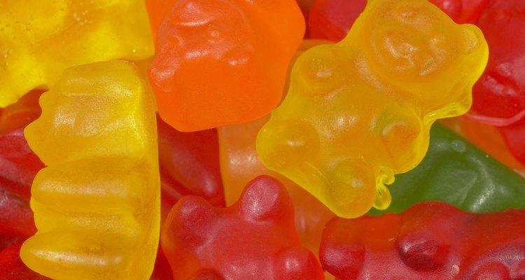 Agar agar jelly powder is often used in gummy bears and gummy candy.