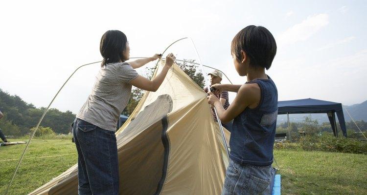 As tendas são projetadas para usar por três temporadas