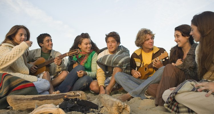 Music is an entertaining campout activity.
