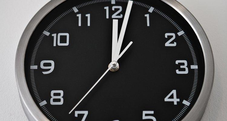 Se você está acostumado com o tempo padrão, conversões para tempo decimal necessitarão de prática