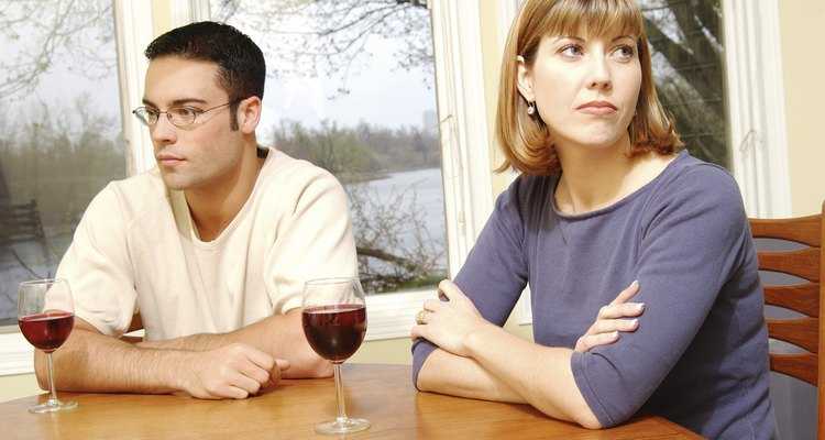 Couple having disagreement at home