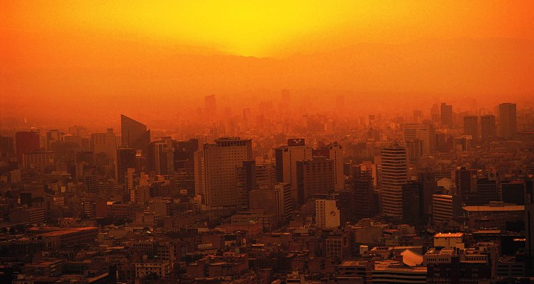 Las ciudades, a menudo, están contaminadas.