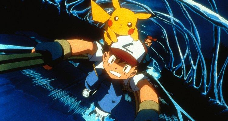 O Lt. Surge usa um Pikachu de nível 18, um de seus três Pokemons elétricos