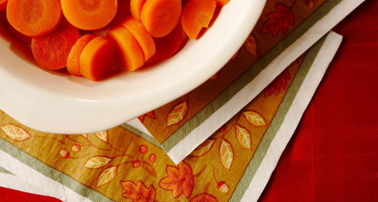 The natural oils found in carrots can stain plastic dishes.