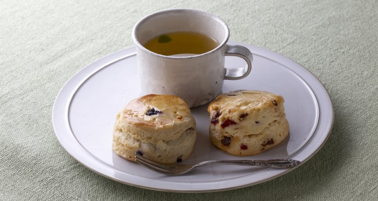 Tea with scones is an old tradition that still works, even when scones are reheated.