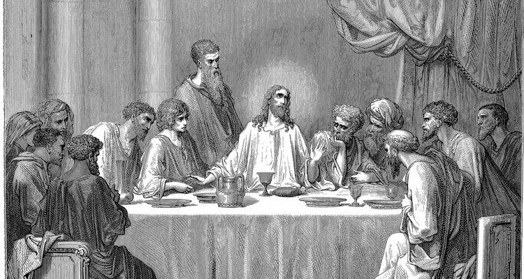 Os apóstolos na última ceia