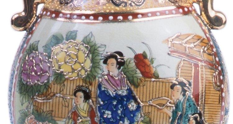 Chinese cloisonné often adorns vases.