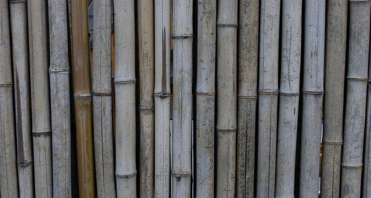 Cuelga los palos de bambú de lado a lado de forma vertical u horizontal, para crear un efecto de papel tapiz.