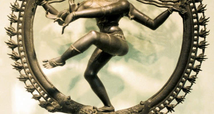 Una representación en bronce del dios hindú Shiva.