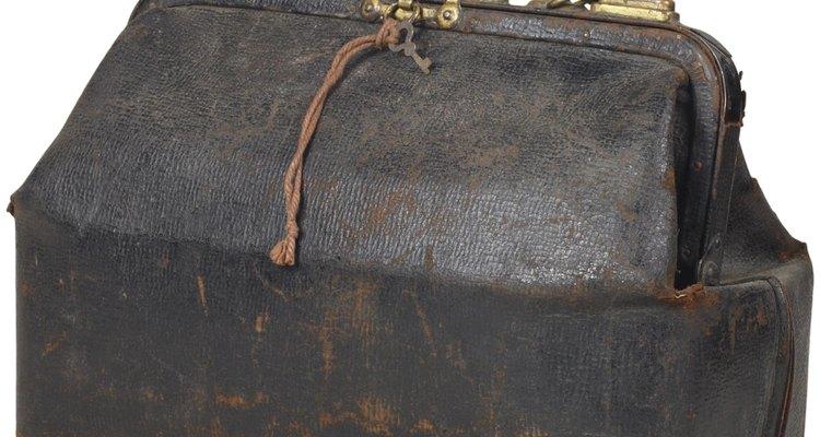 O couro antigo é distinguido pelo seu dano