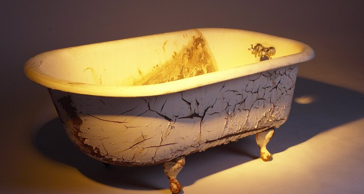 Bathtubs can become dirty, dingy and stained over time.