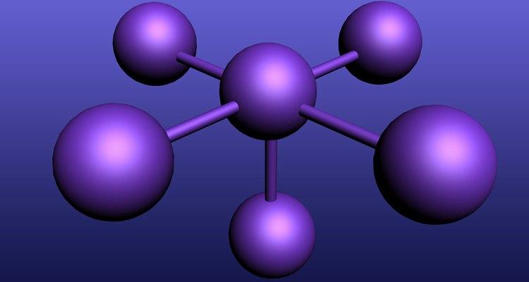 Compostos são feitos de estruturas de átomos ligados