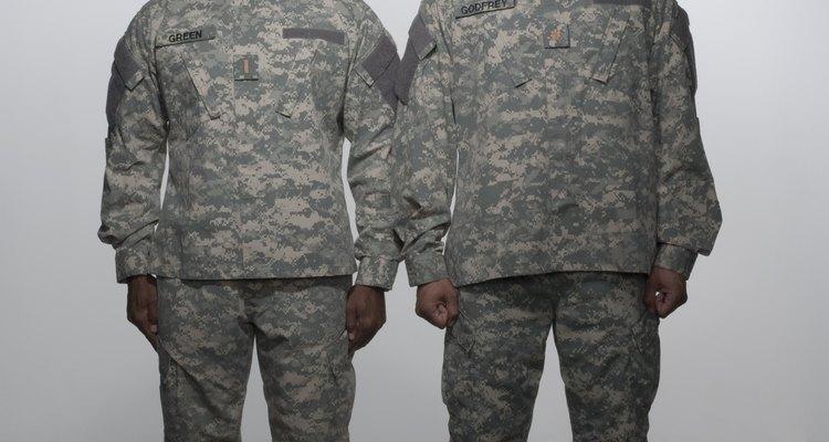 Two Army buddies in uniform