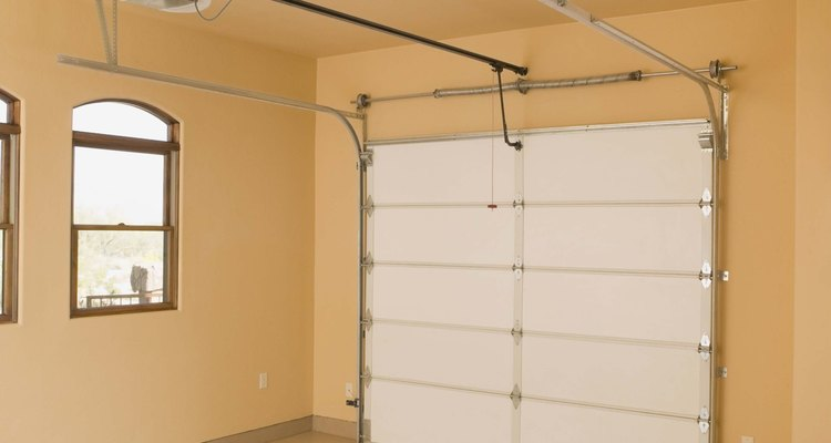 Reset a garage door to fix minor glitches with the opener.